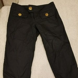 Guess crop black pants size 23 XXS XS